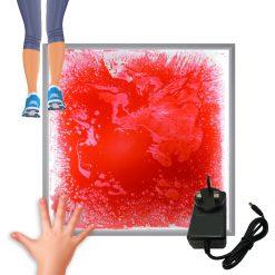 LED Light-Up Liquid Floor Tiles Interactive Sensory Furniture - Red